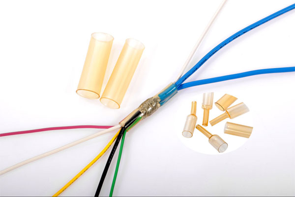 High shrink ratio with low temperature adhesive tubing 4X6X